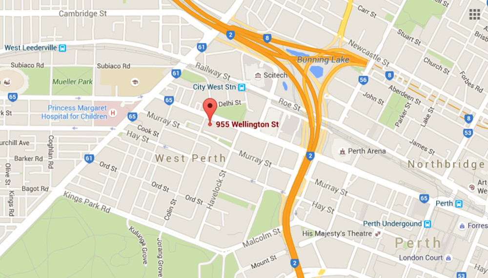 Perth Allergy Clinic West Perth Location Map