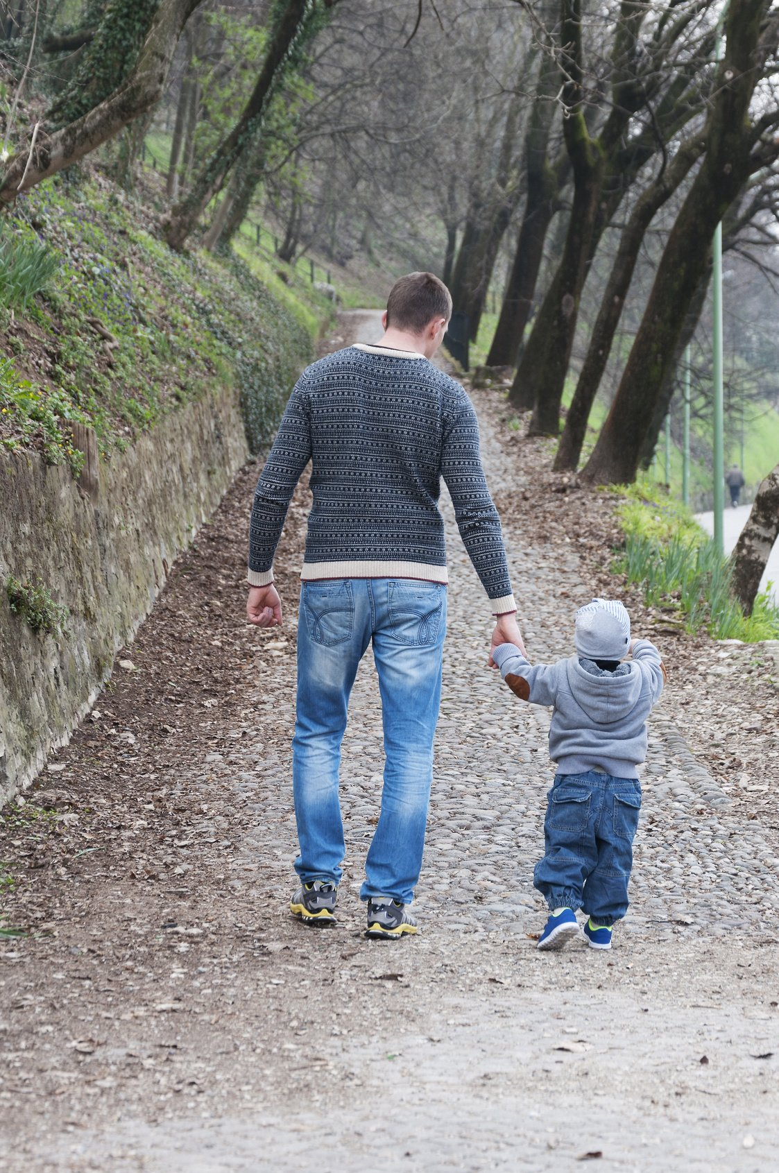 Happiness Man and son walking